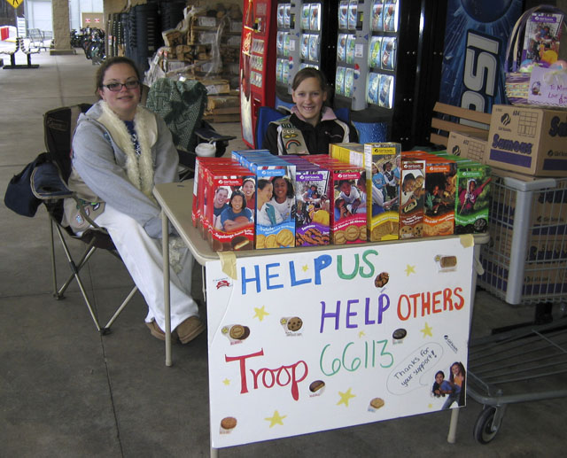 girl scout cookie sell
